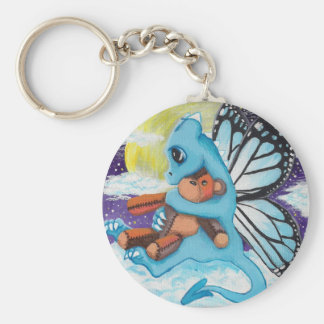 Baby Blue Fairy Dragon Keychain