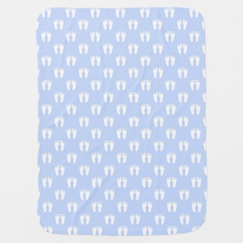 Baby Blue Feet Blanket
