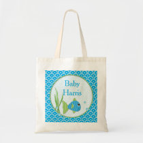 Baby Blue Fish Bag Personalized