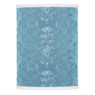 Baby Blue Fl Damask Lamp Shade