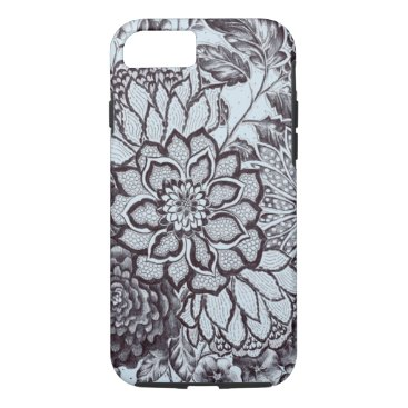 Aztec Themed (baby blue flower lace) iPhone 8/7 case