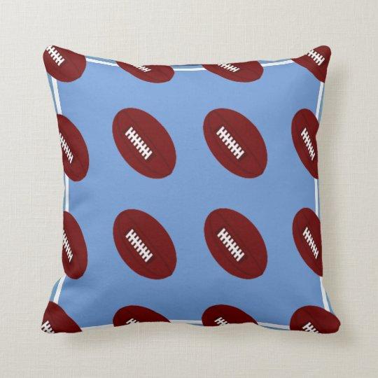 Baby Blue Football Throw Pillow