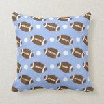 Baby Blue Football, White Polka Dots.gif Pillows