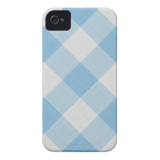 Baby blue gingham pattern Case-Mate iPhone 4 case