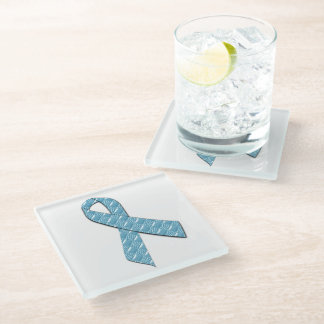 Baby Blue Glass Coaster