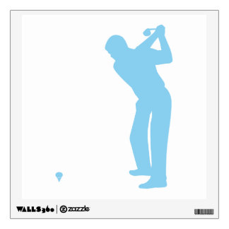 Baby Blue Golf Wall Decal