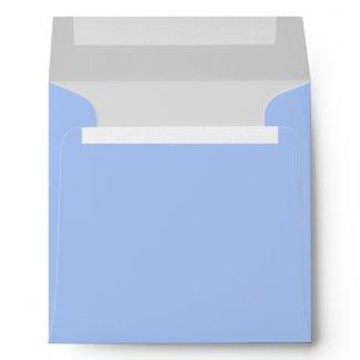 Baby Blue Gray Linen Envelopes