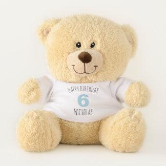 "Baby Blue ""Happy Birthday"" Personalized Teddy Bear"