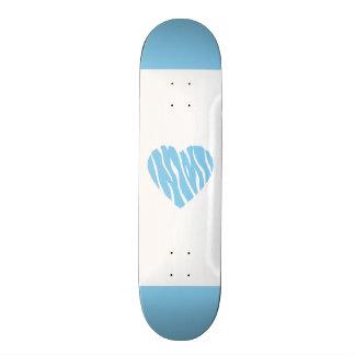 Baby Blue Heart Skateboard