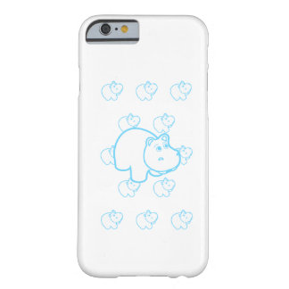 Baby Blue Hippo Barely There iPhone 6 Case
