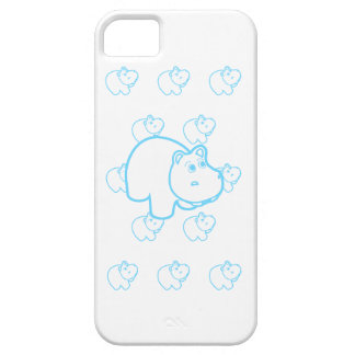 Baby Blue Hippo iPhone 5 Case