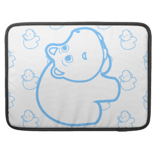 Baby Blue Hippo Sleeves For MacBooks
