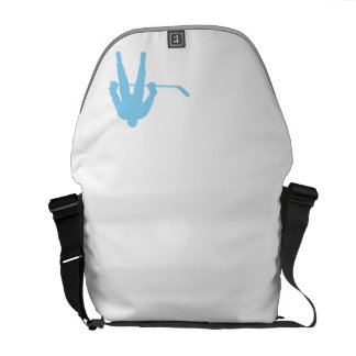 Baby Blue Hockey Courier Bags