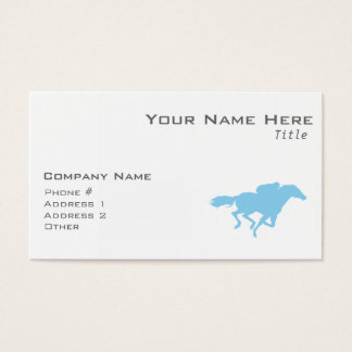 Baby Blue Horse Racing Business Card
