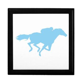 Baby Blue Horse Racing Keepsake Box