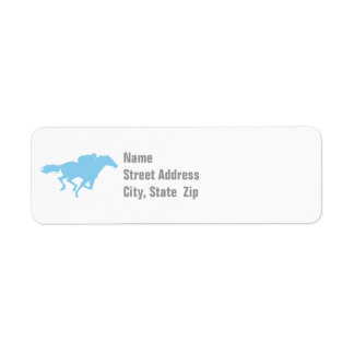 Baby Blue Horse Racing Label