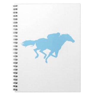 Baby Blue Horse Racing Notebook
