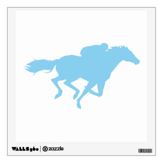 Baby Blue Horse Racing Wall Decal