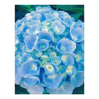 Baby blue hydrangea bloom letterhead