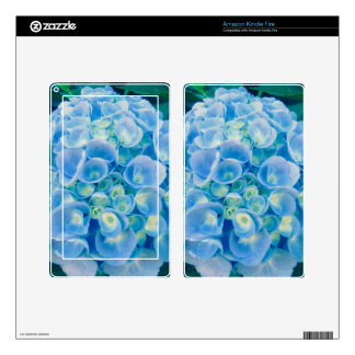 Baby blue hydrangea bloom skins for kindle fire