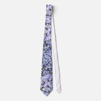 Baby Blue Hydrangea Petals Wedding Neck Tie