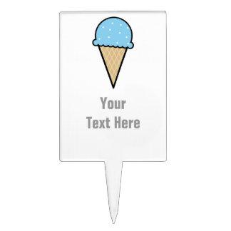 Baby Blue Ice Cream Cone Cake Topper
