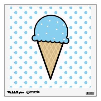 Baby Blue Ice Cream Cone Wall Sticker