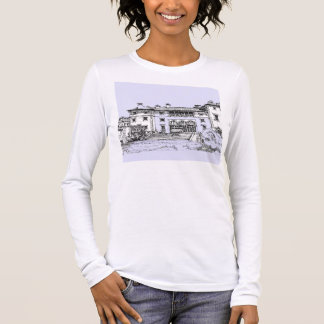 Baby blue ink sketch long sleeve T-Shirt