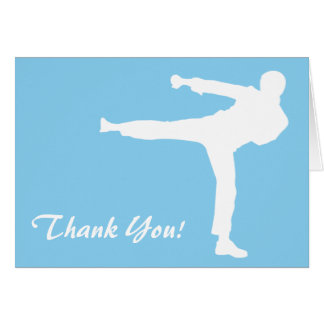 Baby Blue Karate Card