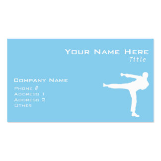 Baby Blue Karate Double-Sided Standard Business Cards (Pack Of 100)
