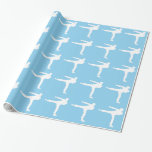 Baby Blue Karate Gift Wrapping Paper