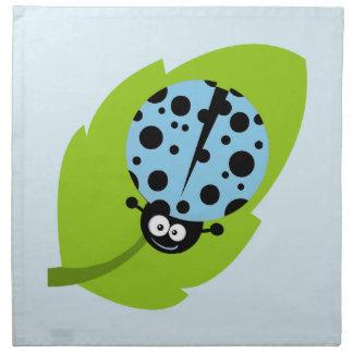Baby Blue Ladybug Cloth Napkin