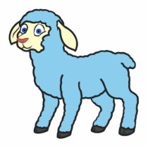 Baby Blue Lamb Cutout