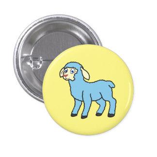 Baby Blue Lamb Pinback Button