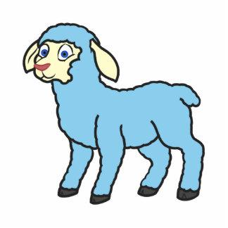 Baby Blue Lamb Statuette