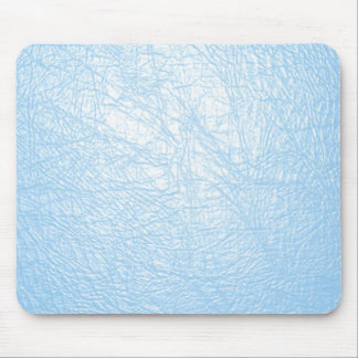 baby blue leather texture mouse pad