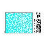 Baby Blue Leopard Print Postage Stamp