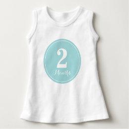 Baby Blue Monthly Birthday Baby Dress