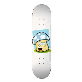 Baby Blue Mushroom Skateboard Deck
