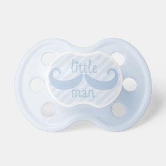 Baby Blue Mustache Little Man Pacifier