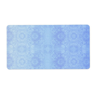 Baby Blue Muted Vintage Lace Theme Label
