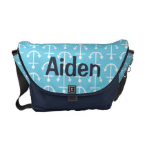 Baby Blue Nautical Anchor Diaper Bag