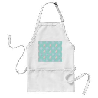 Baby Blue Nautical Pattern Adult Apron