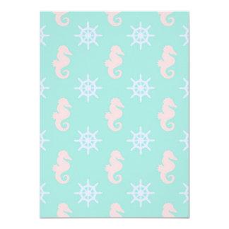 Baby Blue Nautical Pattern Card