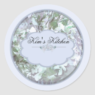 Baby blue orchids Spice jar labels Stickers