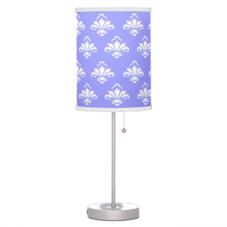 Baby Blue Ornate Damask Pattern Table Lamp