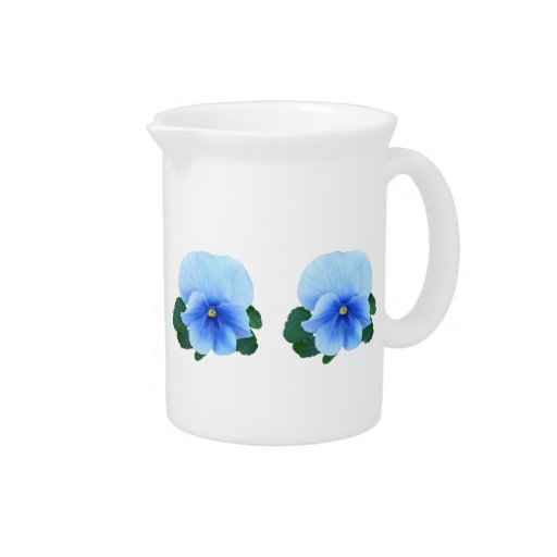 Baby Blue Pansy Beverage Pitcher