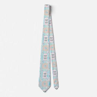 Baby Blue Pattern Art Unisex Tie