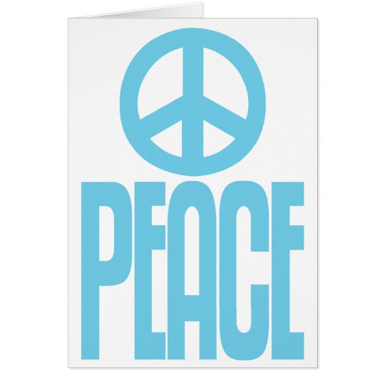 Baby Blue, Peace Sign, Loudmouth Greeting Card