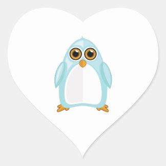 Baby Blue Penguin Heart Sticker